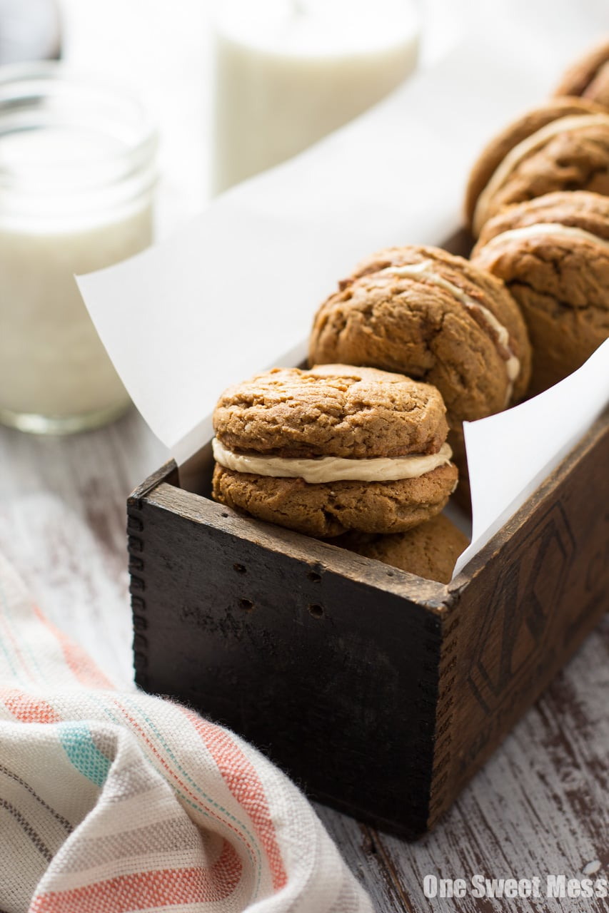 Pumpkin Cookie Butter Ginger Sandwich Cookies