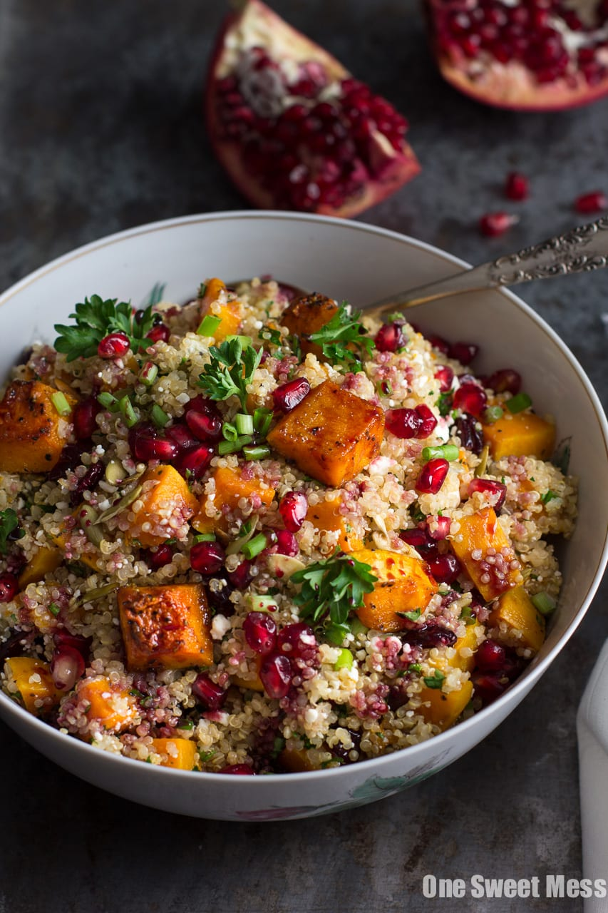 Roasted Butternut Squash Quinoa Salad - One Sweet Mess