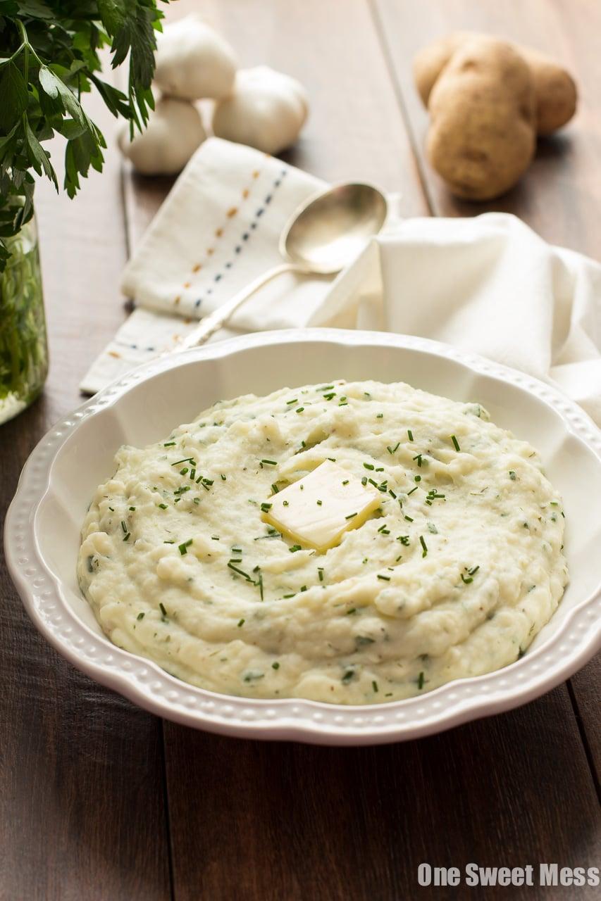Roasted Garlic Ranch Mashed Potatoes
