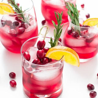 Cranberry-Orange Bourbon Smash
