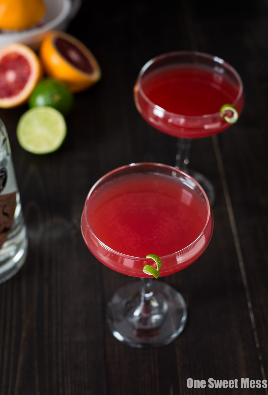 Blood Orange Cosmo Cocktail