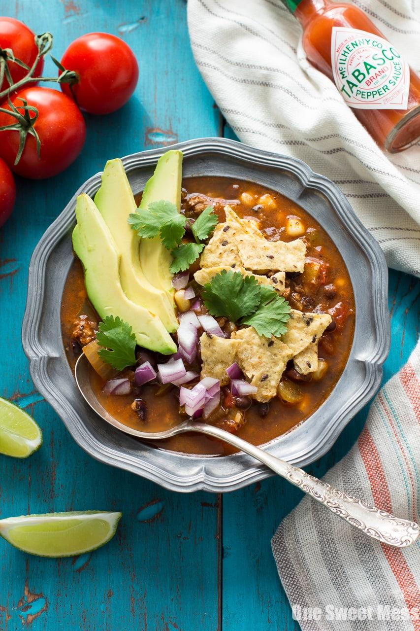 Chorizo Taco Soup