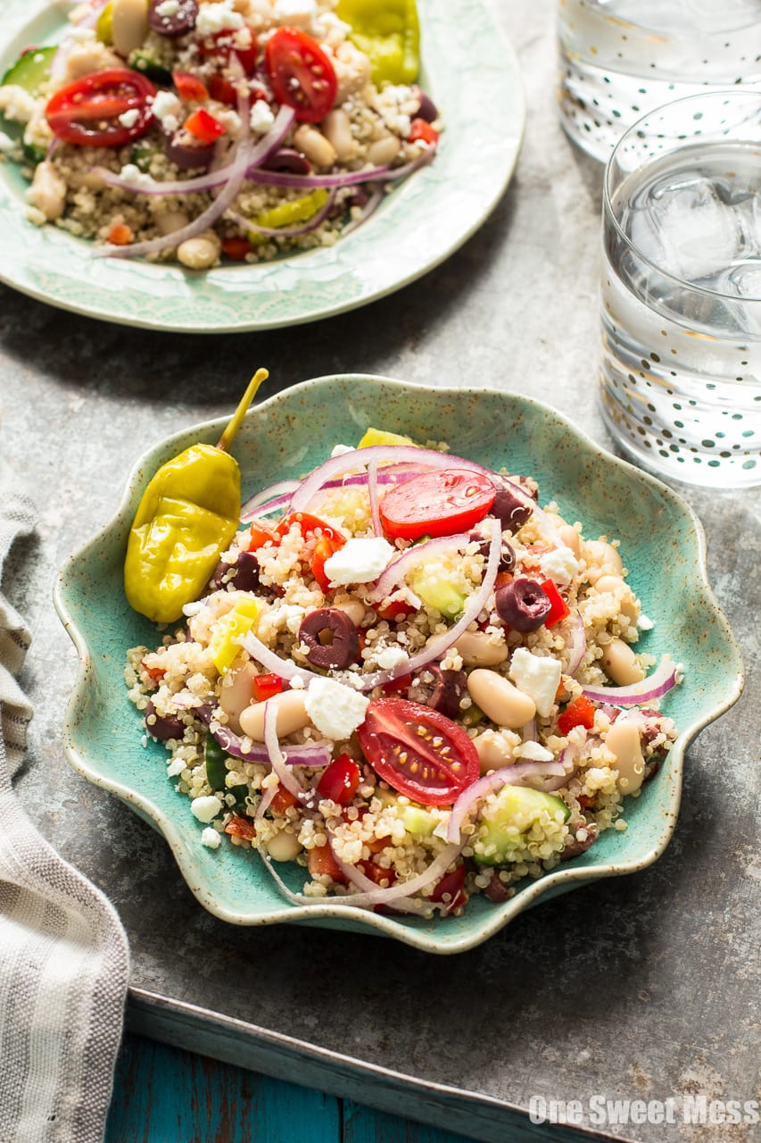 Greek Quinoa Salad - Naturally Gluten-Free and Vegetarian