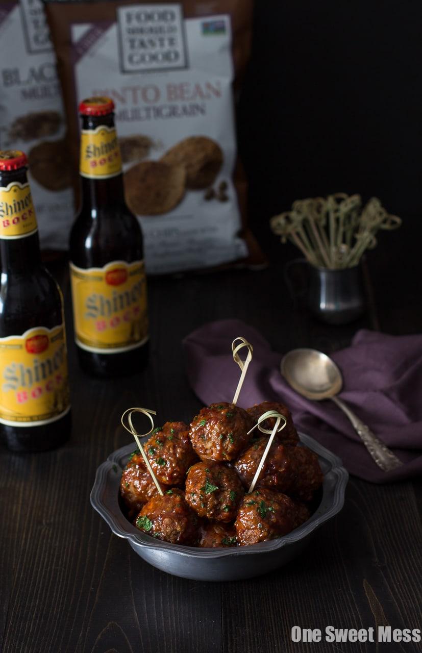 Spicy Chorizo Meatballs with Chipotle Barbecue Glaze