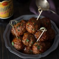 Spicy Chorizo Meatballs with Chipotle Barbecue Glaze