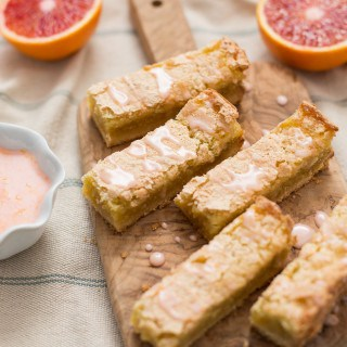 Blood Orange Bars with Vanilla Bean Blood Orange Glaze