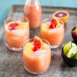 Blood Orange Coconut Mai Tai
