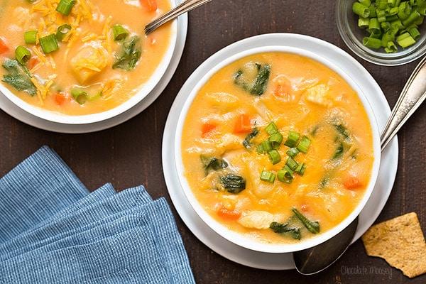 Cheesy Chicken and Potato Soup