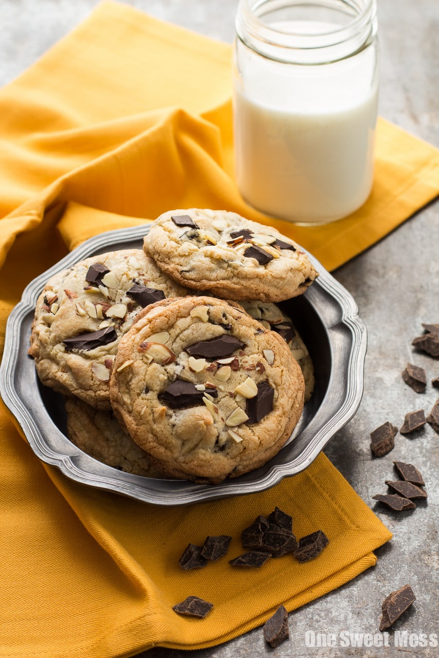 Cherry Almond Chocolate Chunk Cookies