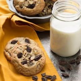 Cherry Almond Chocolate Chunk Cookies