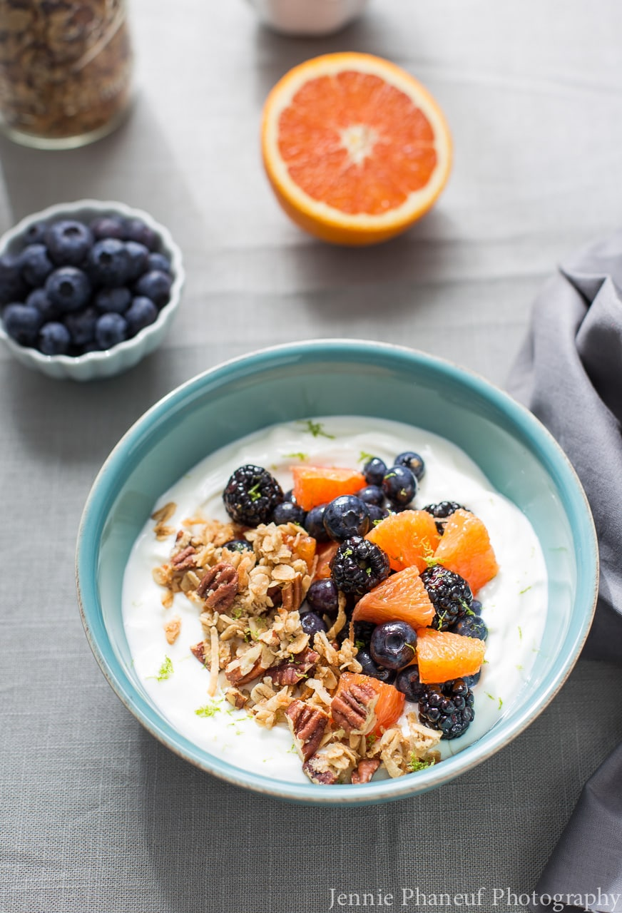 Honey-Lime Fruit and Yogurt Bowl