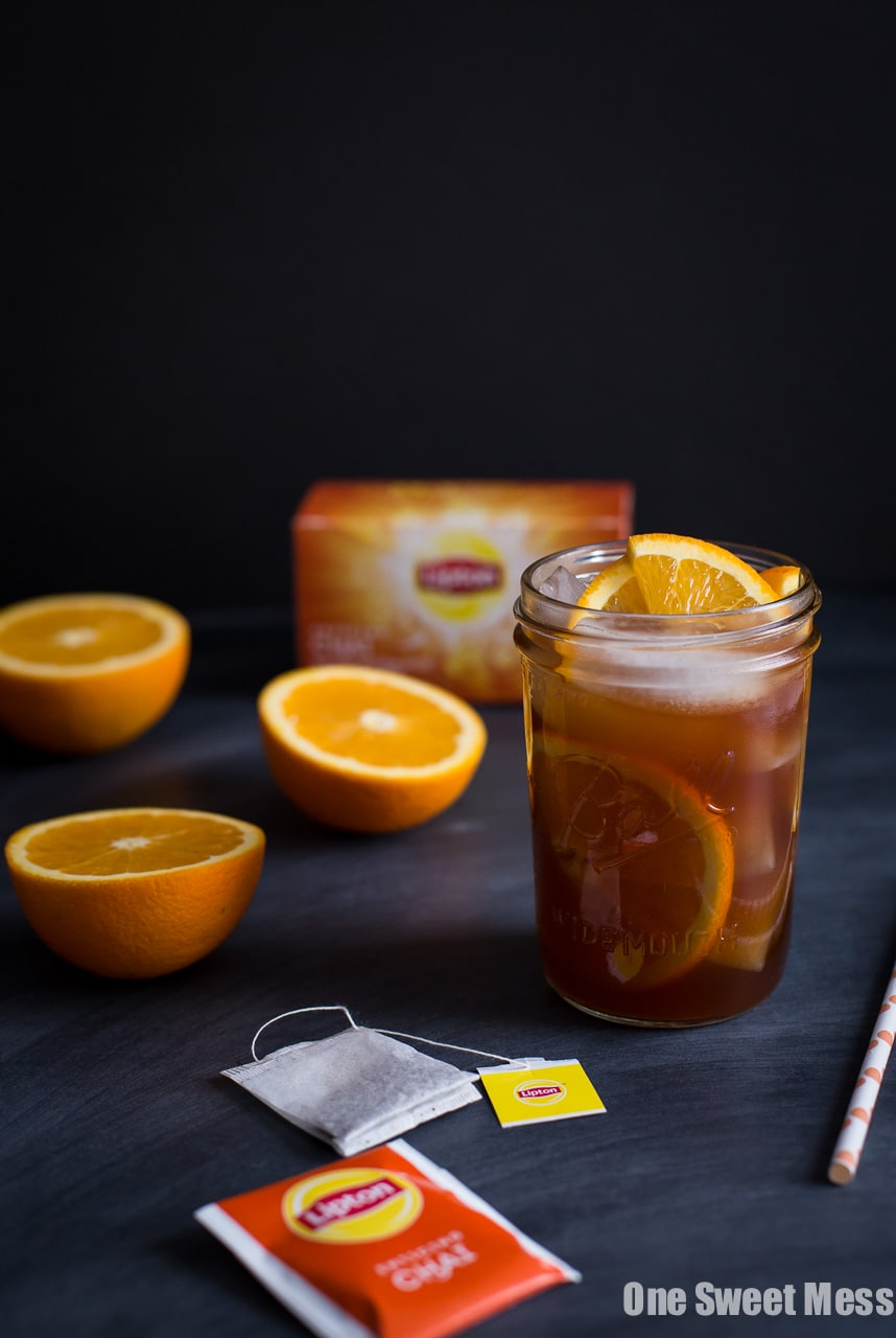 Honey Orange Iced Chai Tea - One Sweet Mess