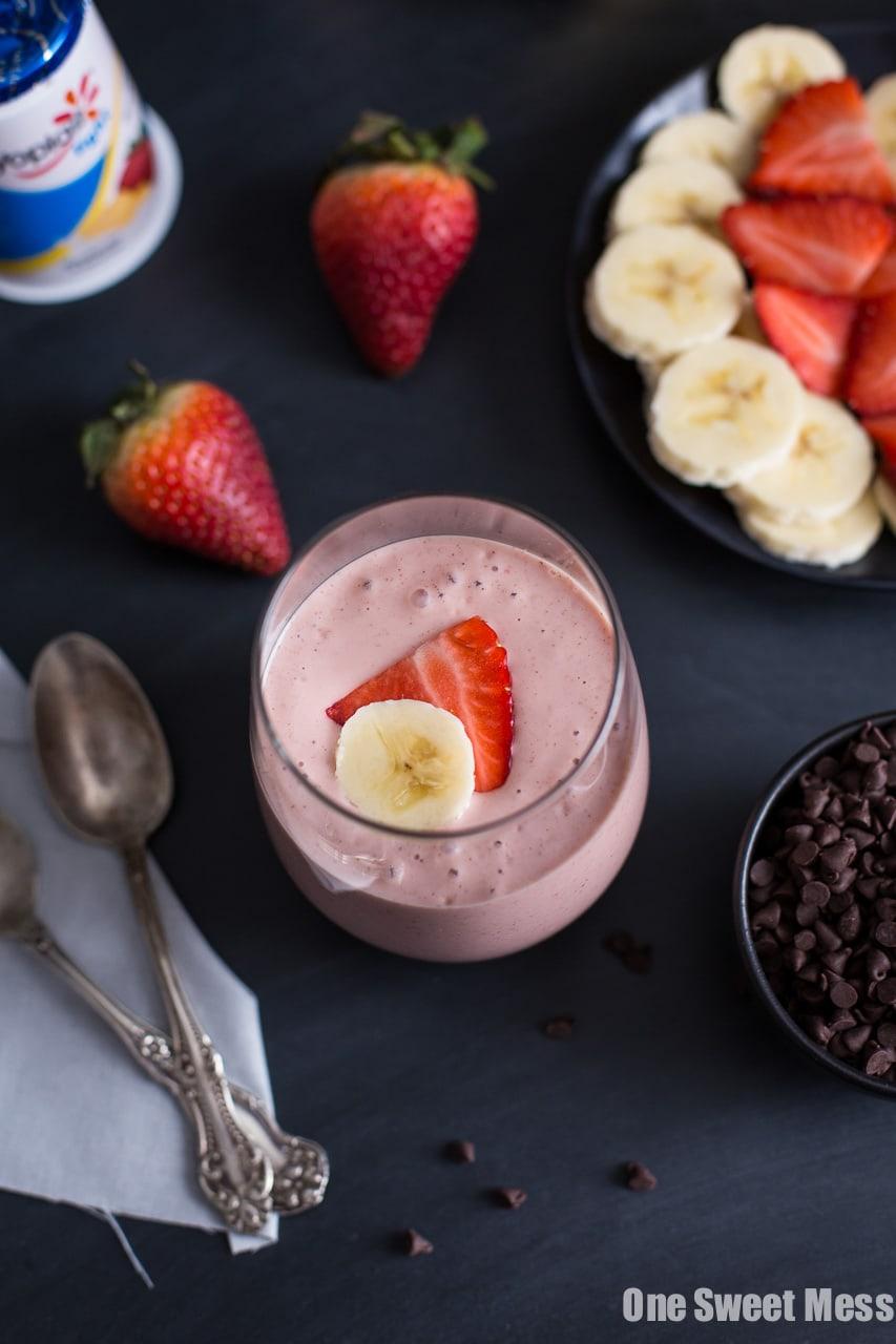 Strawberry Banana Blender Pudding