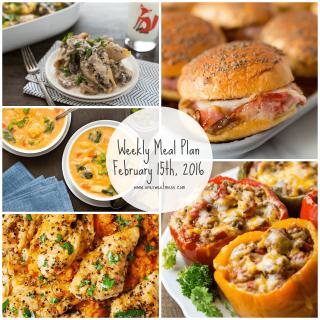 Week of February 15th, 2016 Meal Plan + Printable Grocery List