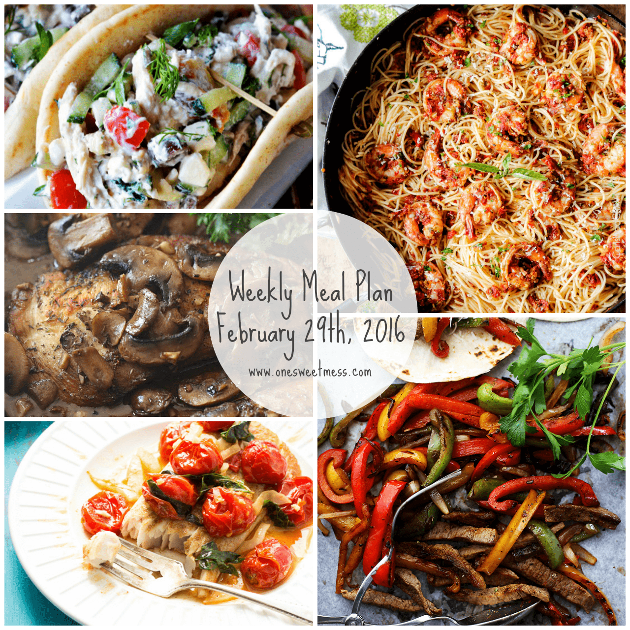 Week of February 29th, 2016 Weekly Meal Plan + Printable Grocery List