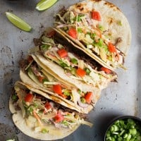 Guinness Shredded Beef Tacos with Mustard Slaw