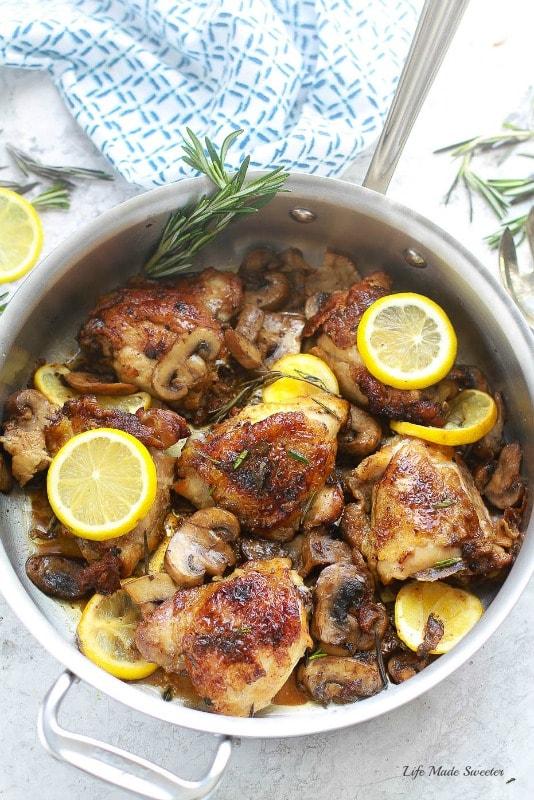 Skillet Rosemary Lemon Chicken