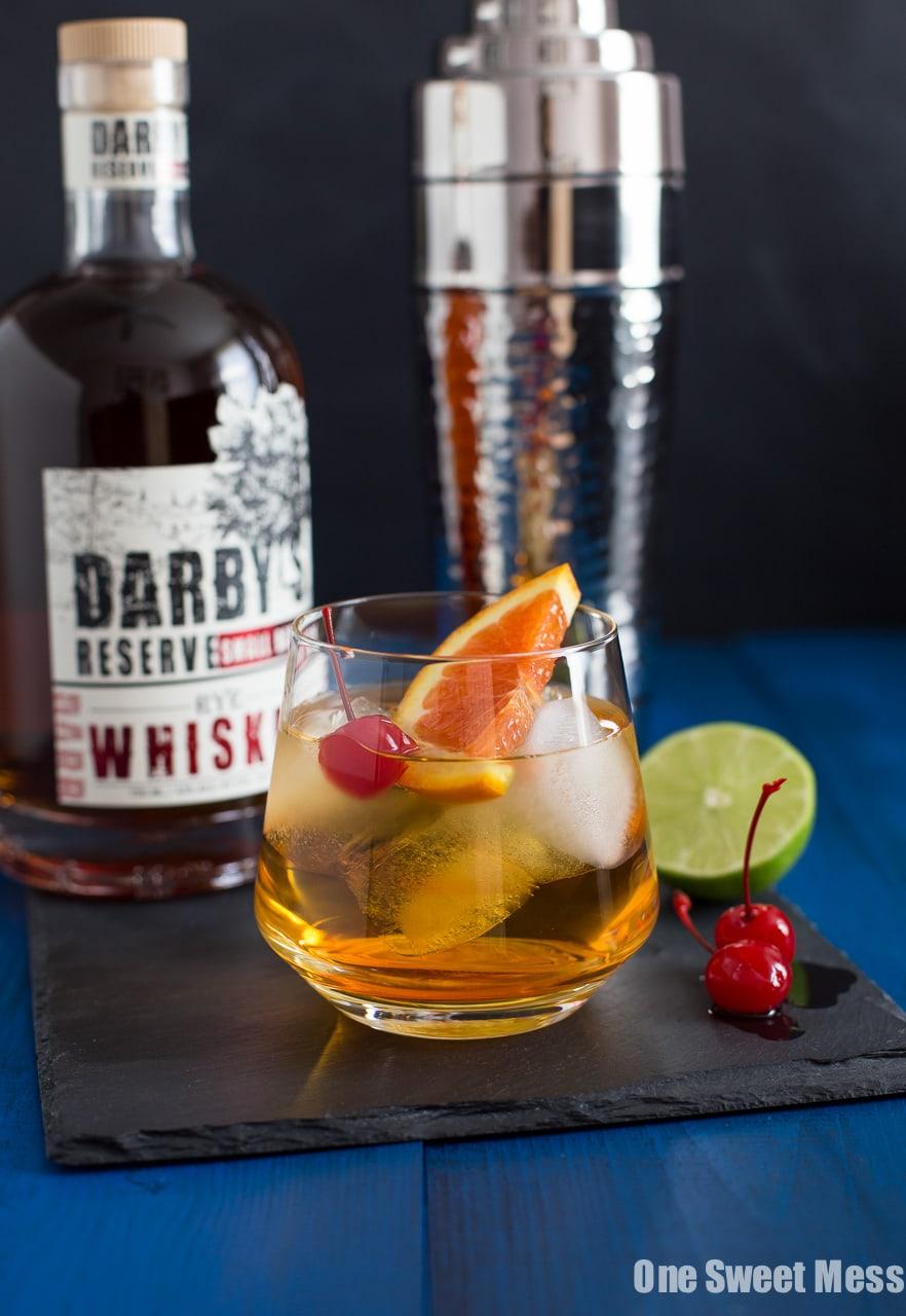 Triple Citrus Whiskey Sour Cocktail
