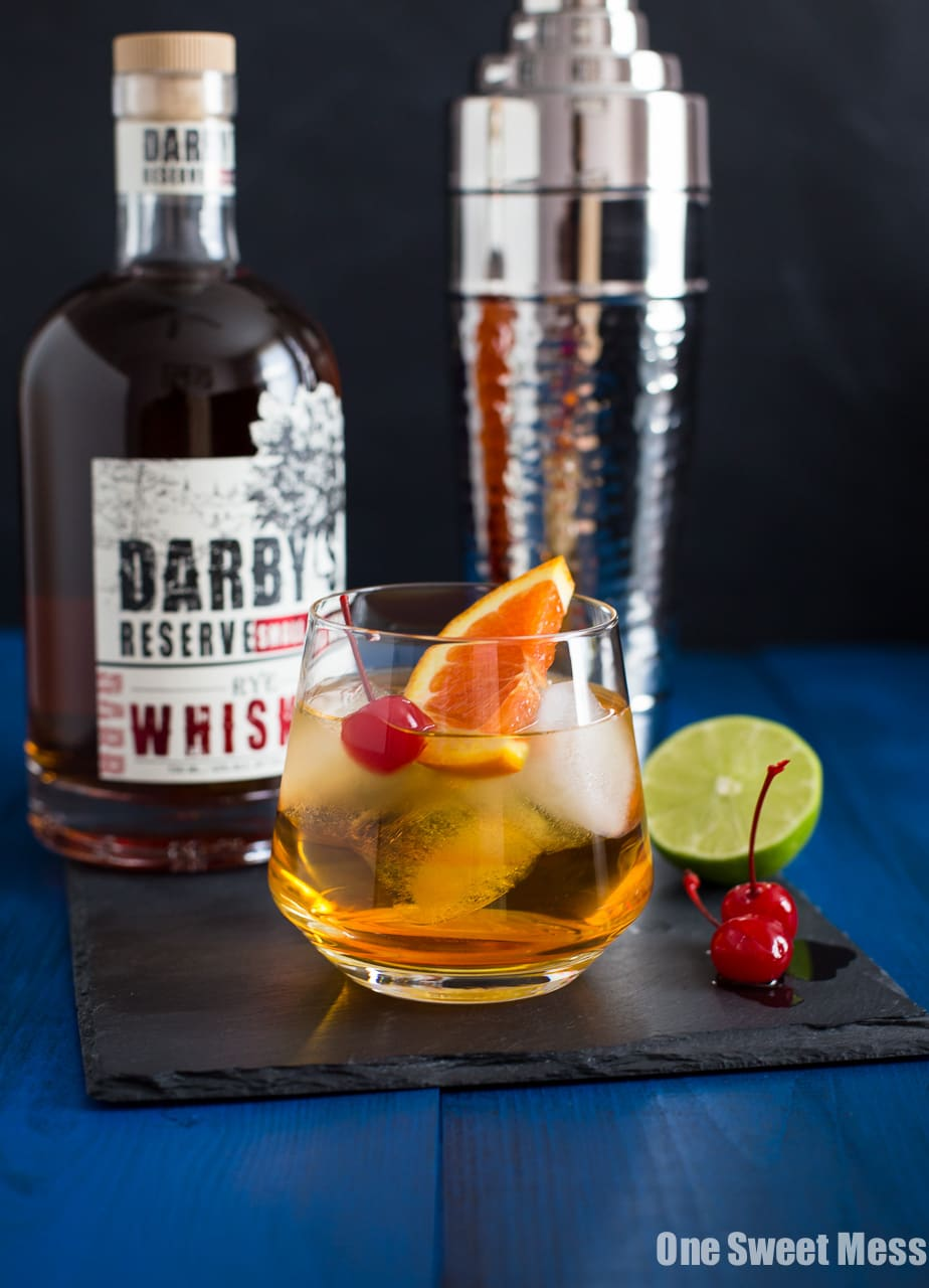 Triple Citrus Whiskey Sour Cocktail
