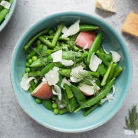 Spring Pea & Asparagus Salad with Lemon Dill Vinaigrette
