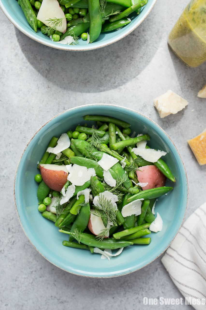 Spring Pea & Asparagus Salad with Lemon Dill Vinaigrette
