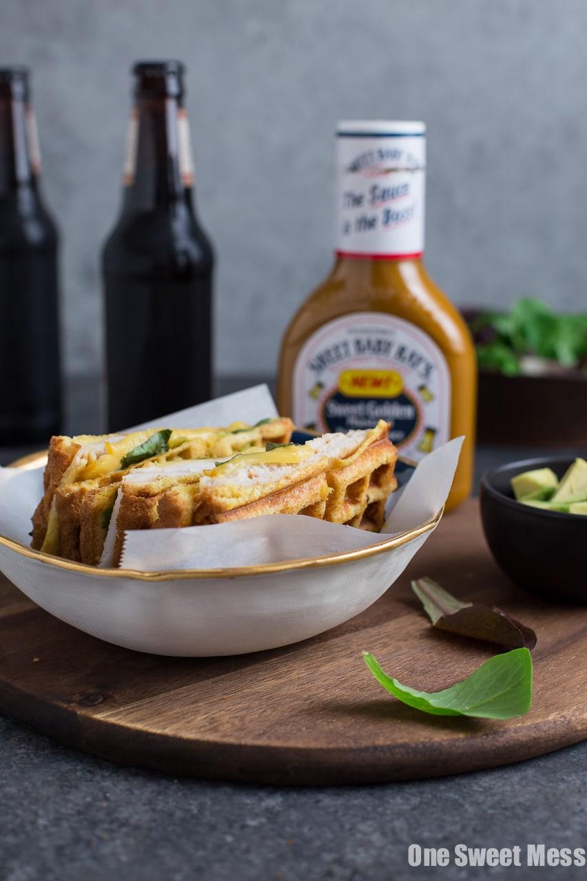 Waffle Iron Turkey & Smoked Gouda Panini