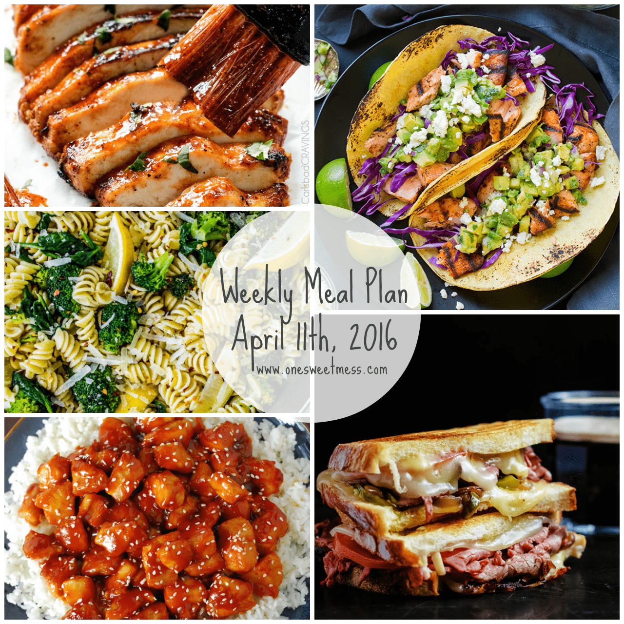 Week of April 11th, 2016 Weekly Meal Plan + Printable Grocery List