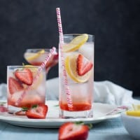 Strawberry Lemon Gin Fizz: This refreshing cocktail combines sweet strawberry syrup, tart lemon juice, and herb-infused gin. Get ready to rock summer!