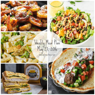 Week of May 23rd, 2016 Weekly Meal Plan + Printable Grocery List