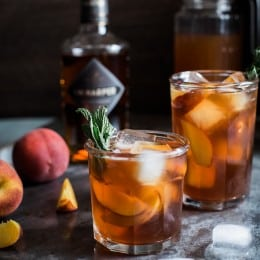 Peach Arnold Palmer with Bourbon