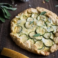 Summer Squash & Ricotta Galette with Sage Brown Butter