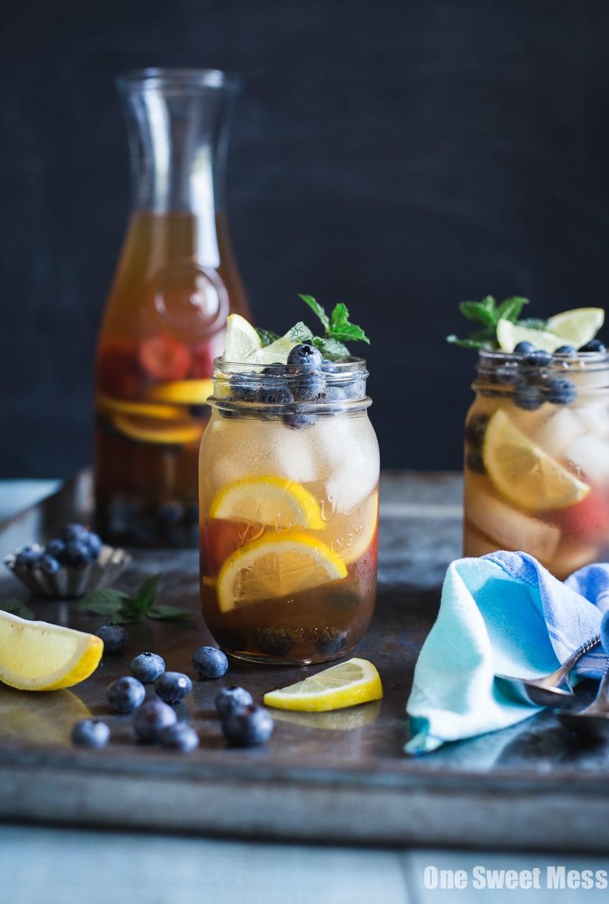 Blueberry Sweet Tea Lemonade Sangria