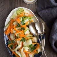 Shaved Cucumber & Carrot Salad