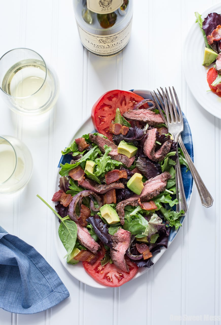 Steak BLT Salad with Grilled Onions