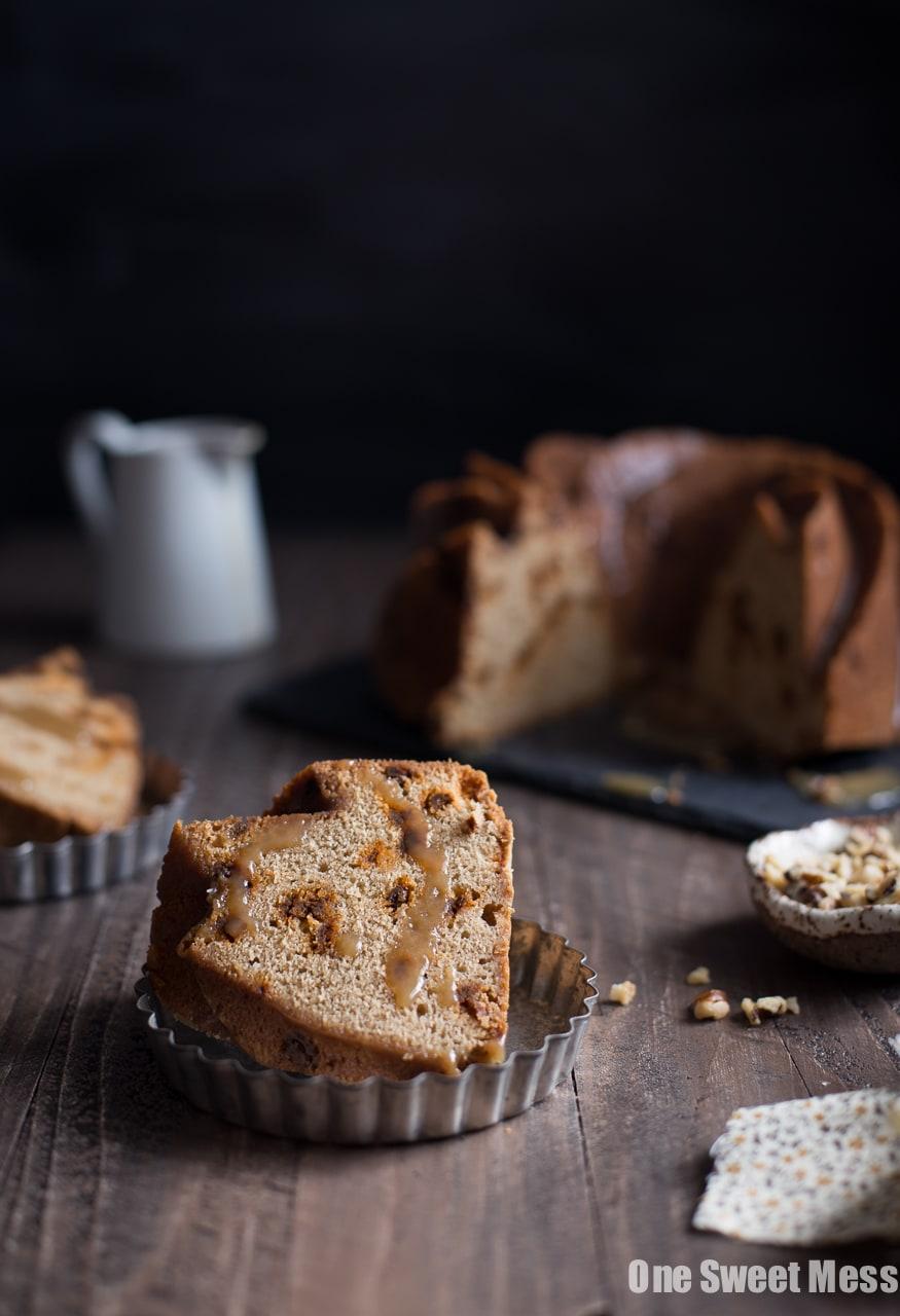 Cinnamon Brown Sugar Bundt Cake with Butterscotch Rum Glaze