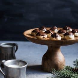 Chocolate Dipped Hazelnut Sandies
