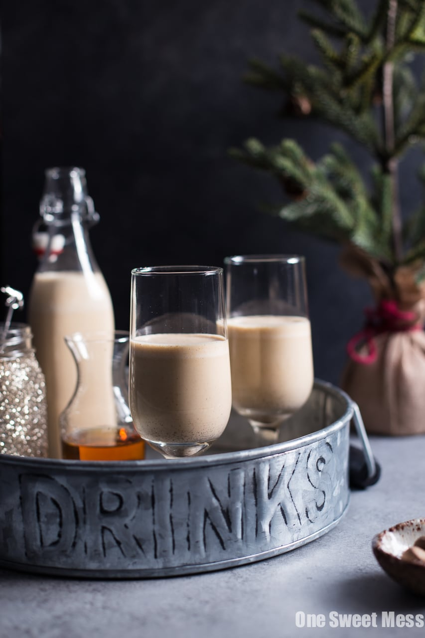 Pumpkin Spice Bourbon Eggnog One Sweet Mess