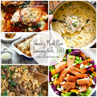 Week of January 16th, 2017 Weekly Meal Plan + Printable Grocery List
