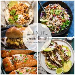 Week of January 9th, 2017 Weekly Meal Plan + Printable Grocery List