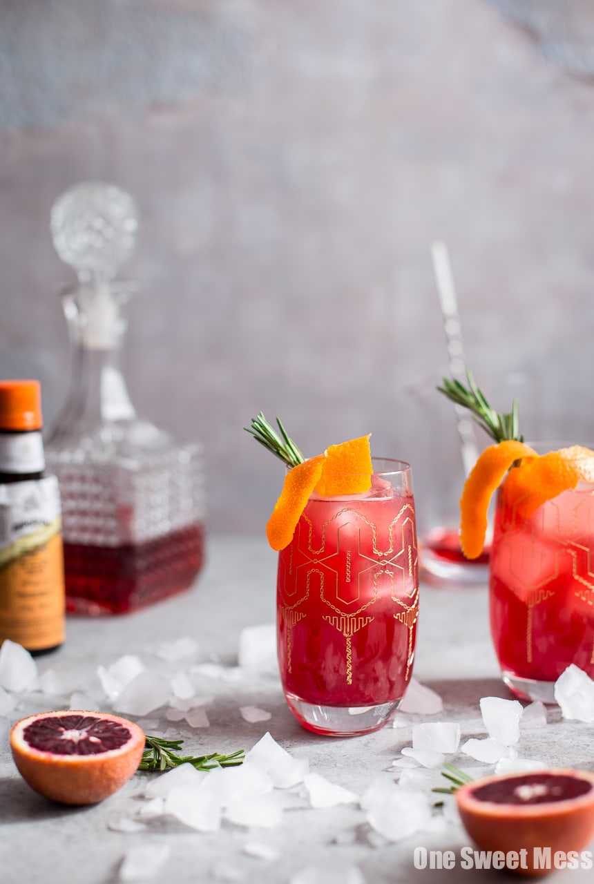 Blood Orange Campari Gin Fizz