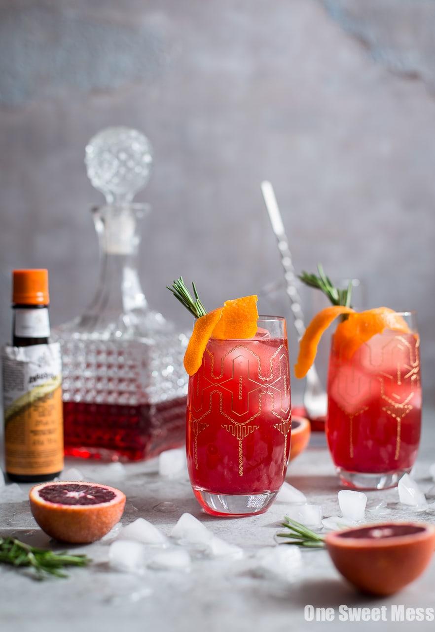 Blood Orange Campari Gin Fizz