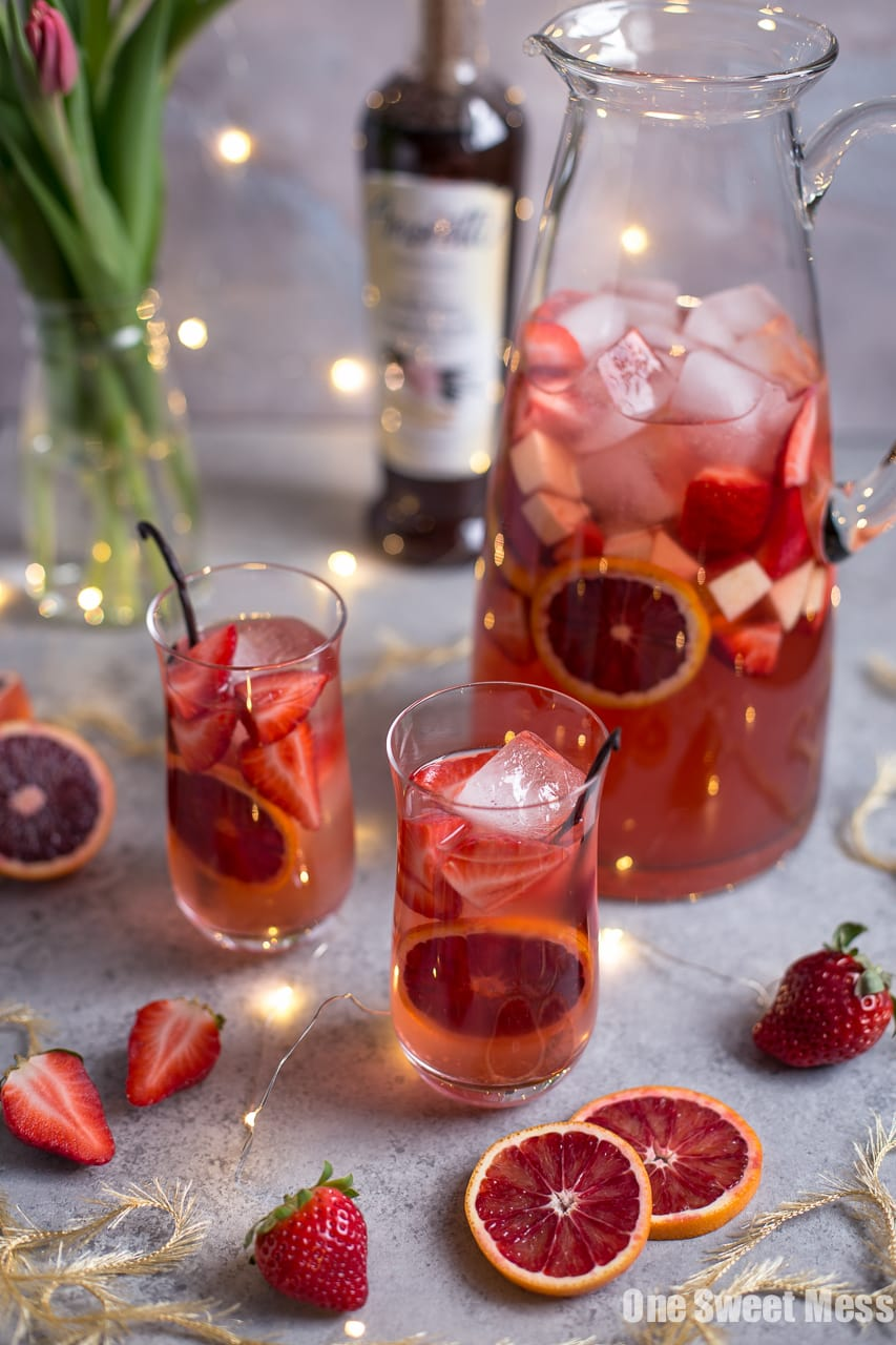 Blood Orange Vanilla Bean Rose Sangria