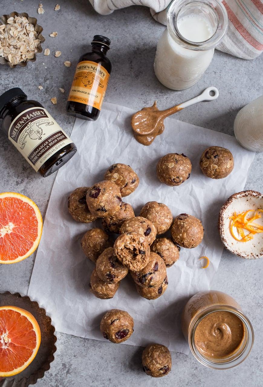 Cranberry Orange Oatmeal Cookie Energy Bites