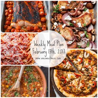 Week of February 13th, 2017 Weekly Meal Plan + Printable Grocery List
