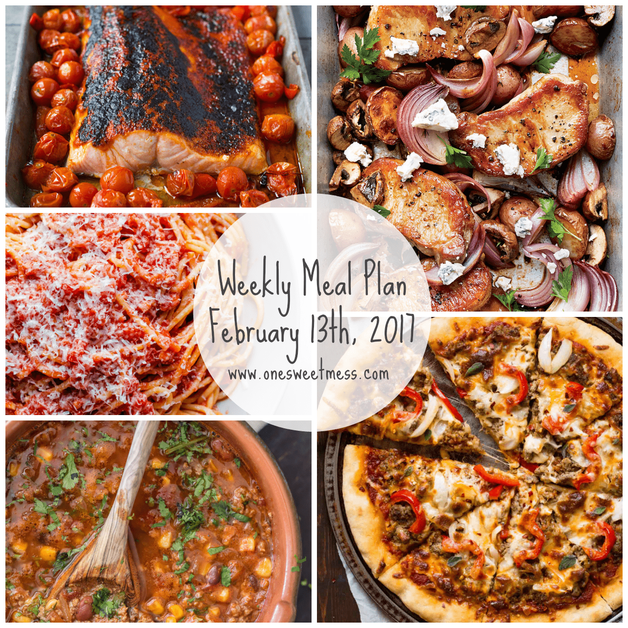 Week of February 13th, 2017 Weekly Meal Plan + Printable Grocery List