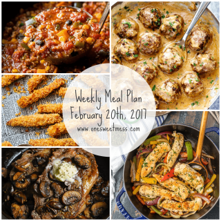 Week of February 20th, 2017 Weekly Meal Plan + Printable Grocery List