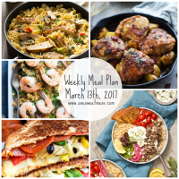 Week of March 13th, 2017 Weekly Meal Plan + Printable Grocery List