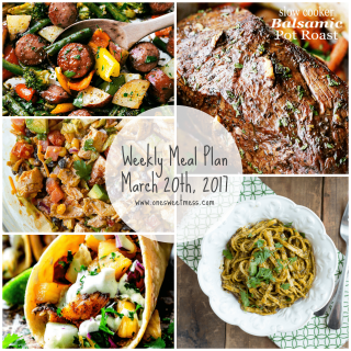 Week of March 20th, 2017 Weekly Meal Plan + Printable Grocery List