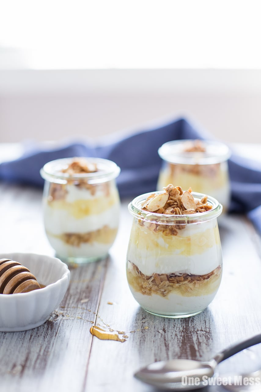 Pina Colada Yogurt and Honey Parfait