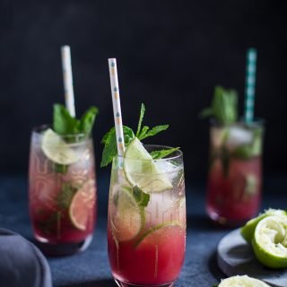 Pineapple Cranberry Mojito